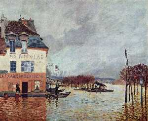 Alfred Sisley - Flood at Pont-Marley