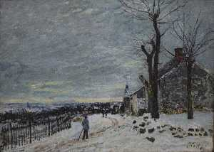 Alfred Sisley - Snowy Weather at Veneux Nadon