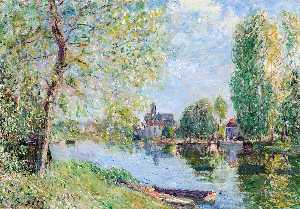 Alfred Sisley - Spring at Moret on the Lo..