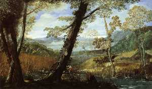 Annibale Carracci - River Landscape