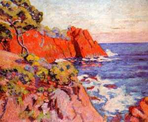 Jean Baptiste Armand Guil.. - Rocks on the Coast at Aga..