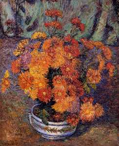 Jean Baptiste Armand Guil.. - Vase of Chrysanthemums