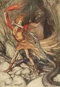 Arthur Rackham - The ring of the nibelung 9