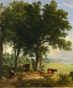 Asher Brown Durand - In the shade of the old o..