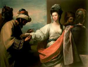 Benjamin West - Isaac's Servant Trying th..