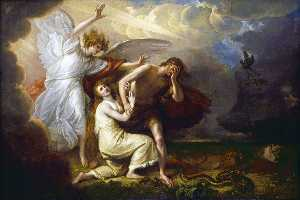 Benjamin West - The Expulsion of Adam and Eve from Paradise