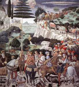 Benozzo Gozzoli - Procession of the Magus Melchoir