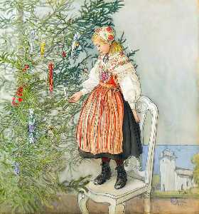 Carl Larsson - Christmas Tree Confetti