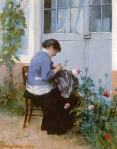 Carl Larsson - Sewing