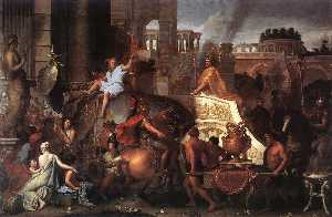 Charles Le Brun - Entry of Alexander into B..