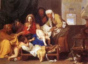 Charles Le Brun - Holy Family with the Ador..