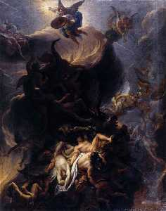 Charles Le Brun - The Fall of the Rebel Ang..