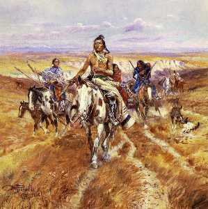Charles Marion Russell - When the Plains Were His