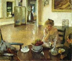 Edmund Charles Tarbell - The Breakfast Room (aka In the..