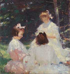 Frank Weston Benson - Children in Woods