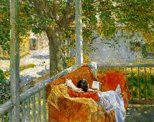 Frederick Childe Hassam - Couch on the Porch, Cos C..