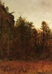 Thomas Worthington Whittredge - A Grey Day under the Cliff