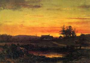 Thomas Worthington Whittredge - Twilight Landscape