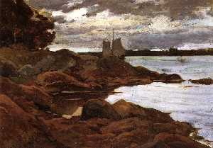 Willard Leroy Metcalf - Close of Day on the Maine Shore