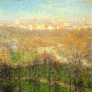 Willard Leroy Metcalf - Early Spring Afternoon, Central park