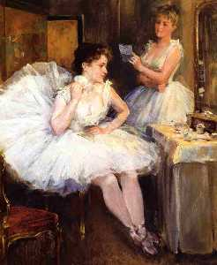Willard Leroy Metcalf - The Ballet Dancers (Aka The Dressing Room)