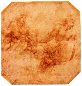 Antonio Allegri Da Correg.. - Study for two apostles wi..