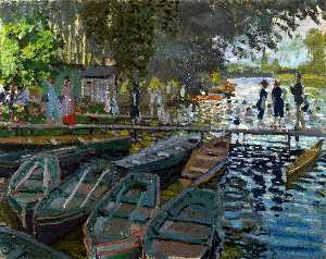 Claude Monet - Bathers at La Grenouiller..