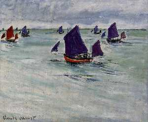 Claude Monet - Fishing Boats off Pourville