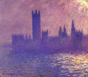 Claude Monet - Houses of Parlilament, Sunlight Effect