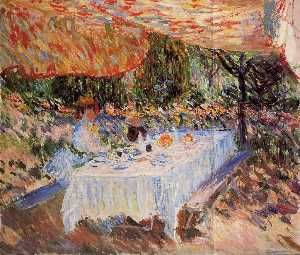 Claude Monet - Luncheon under the Canopy