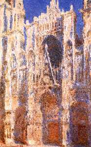 Claude Monet - Rouen Cathedral, the Portal in the Sun