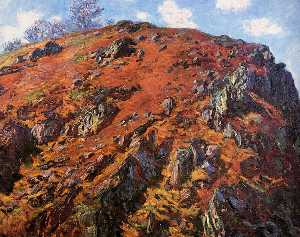 Claude Monet - Study of Rocks (aka Le Bloc)