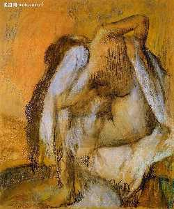 Edgar Degas - After the Bath, Woman Drying Herself 1