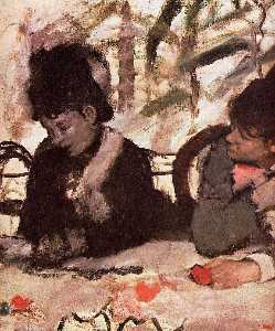 Edgar Degas - At the Cafe