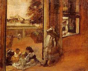 Edgar Degas - Children on a Doorstep