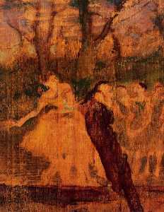 Edgar Degas - Dancers on the Scenery