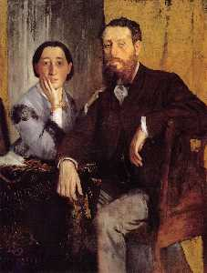 Edgar Degas - Edmond and Therese Morbilli