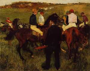 Edgar Degas - Out of the Paddock