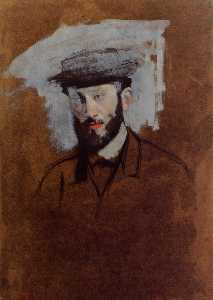 Edgar Degas - Portrait of Eugene Manet (study)