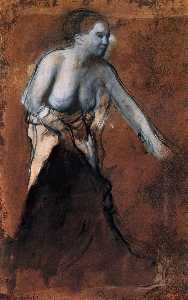 Edgar Degas - Standing Female Figure with Bared Torso
