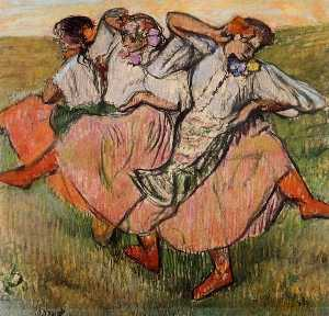 Edgar Degas - Three Russian Dancers