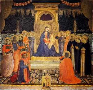 Fra Angelico - The Virgin and Child enthroned with Angels and Saints