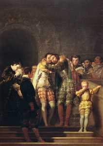 Francisco De Goya - San Francisco de Borja says goodbye to his family