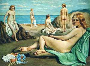 Giorgio De Chirico - Bathers on the beach