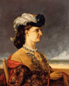 Gustave Courbet - Portrait of Countess Therese Burnswick
