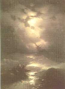Ivan Aivazovsky - Tempest on the Northern sea