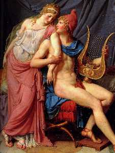 Jacques Louis David - The Courtship of Paris an..