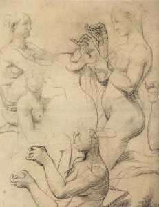 Jean Auguste Dominique Ingres - Studies of Female Nudes