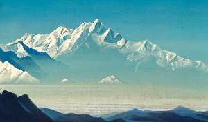 Nicholas Roerich - Mount of five treasures (..