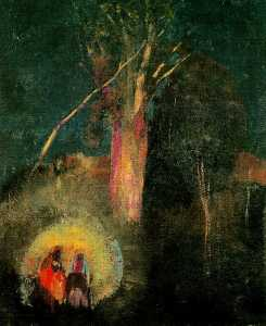 Odilon Redon - Flight into Egypt